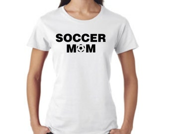 Soccer MOM 3 - short sleeve t-shirt - free shipping  Contiguous U.S.  #243