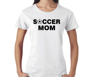 Soccer MOM 4 - short sleeve t-shirt - free shipping  Contiguous U.S.  #244