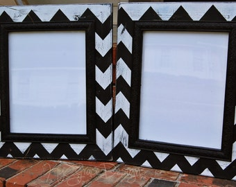 11x14 Chevron frame comes with acrylic backing and framing points