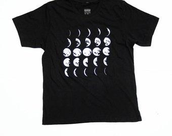 Mens Moon Shirt - Moon Tee - Science Tshirt - Black - Small, Med, Large, XL, 2X, - Mens Moon Tshirt