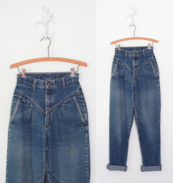 High Waist Jeans * 80s Jeans * Stonewash Jeans * Small