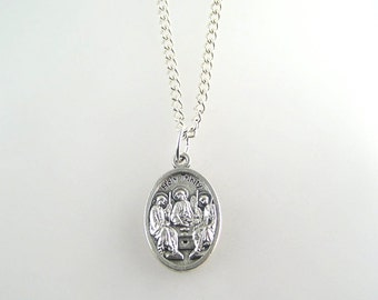 Holy Trinity Medal Necklace