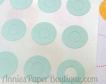 144 Light Green Circle Reinforcements - Labels, Stickers - Hole Reinforcements, Pastel Green