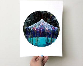 Phenomenon // 8.5 x 11 eco-friendly wall art mountain print