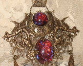 Dragon's Breath Fantasy Art Nouveau Necklace