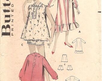 1950s Pajamas Nightgown Pattern - Vintage Butterick 8642 - B36