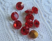 SS22 Light Siam Red Swarovski Round Loose Rhinestone