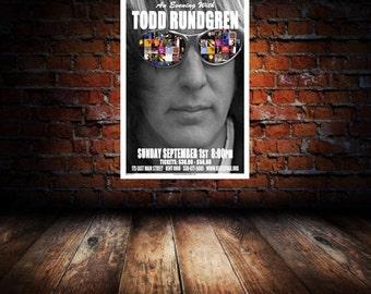 Todd Rundgren 2013 Kent Concert Poster 1st Edition Print