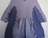 Lavender Upcycled Tunic fits sizes thru 3x