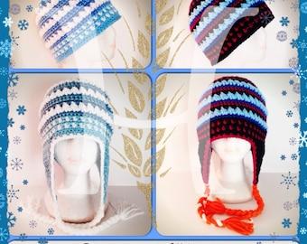 Arendelle Winter Frozen Anna and Elsa themed Crochet hat
