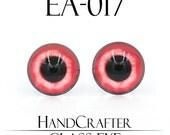 1 pairs - 12mm Handmade glass eyes glass Cabochons Human Eyes Monster Eyes EA-017 NO WASHER