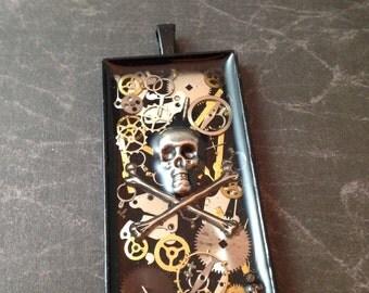 Clockwork Clutter Pirate Captain Steampunk Necklace