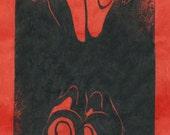 Nude III - Original Linocut Print