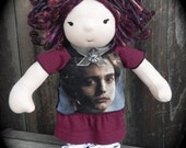 Alice Cullen Twilight Themed Waldorf Doll ...12 1/2 Inches All Natural Hand spun Hand dyed Wool Art Yarn Hair