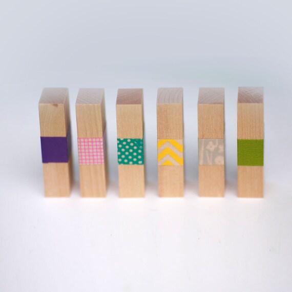 Set of 20-  Wood Rectangles (Birch)  1/2 x 3/4 x 2-1/4 inch