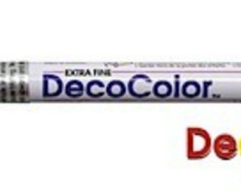 Marvy-Uchida     DecoColor   Opaque Paint Marker - Extra Fine  Point    WHITE Blanc