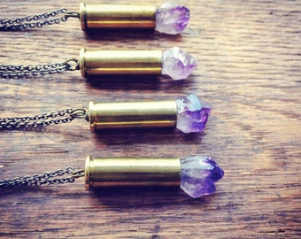 Amethyst Bullet Necklace