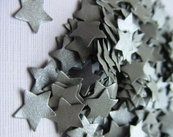 Wedding confetti Stars confetti Silver Wedding star confetti Christmas confetti silver paper stars