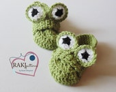 Crochet PATTERN Frog Loafers (3 Child sizes)