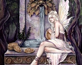 Fairy Wishing Well 8x10 Art Print by Selina Fenech