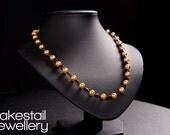 Gold Pearl & Garnet Neckl...