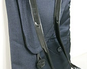 HALF OFF! Charcoal gray wool cross body bag, iPad case, sleeve, tablet case, detachable strap, recycled mens suit coats, front pocket