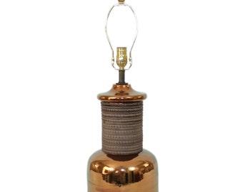 Raymor Bitossi Pottery Lamp . Mid-Century Danish Modern