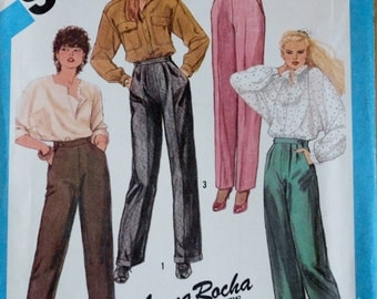Vintage Sewing Pattern, Simplicity 6528, 80s Trousers and Pants in Two Lengths, 80s Pants Sewing Pattern, 80s Sewing Pattern,Size 8 Waist 24