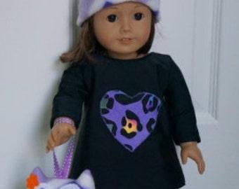 Mini Chevron Owl for your Doll - Plush Mini Chevron Owl - Purple Chevron - Green Chevron