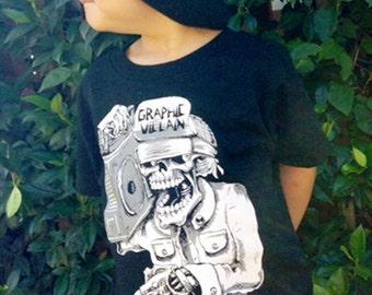 Suicidal Boombox logo Shirt Toddler Shirt by Graphic Villain printed on ultra soft ring spun cotton