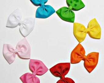 Girls Hair Bow Set Hair Clip Hairbows Hair Accessories (Set of 8) Choose Colors