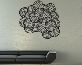 Vinyl Wall Art Decal Sticker Spheres 1317s