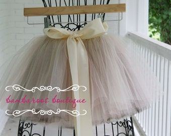 flower girl tutu, flower girl dress, tulle skirt