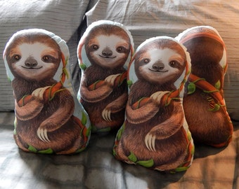 Three Toed Baby Sloth Stuffed Toy Pillow