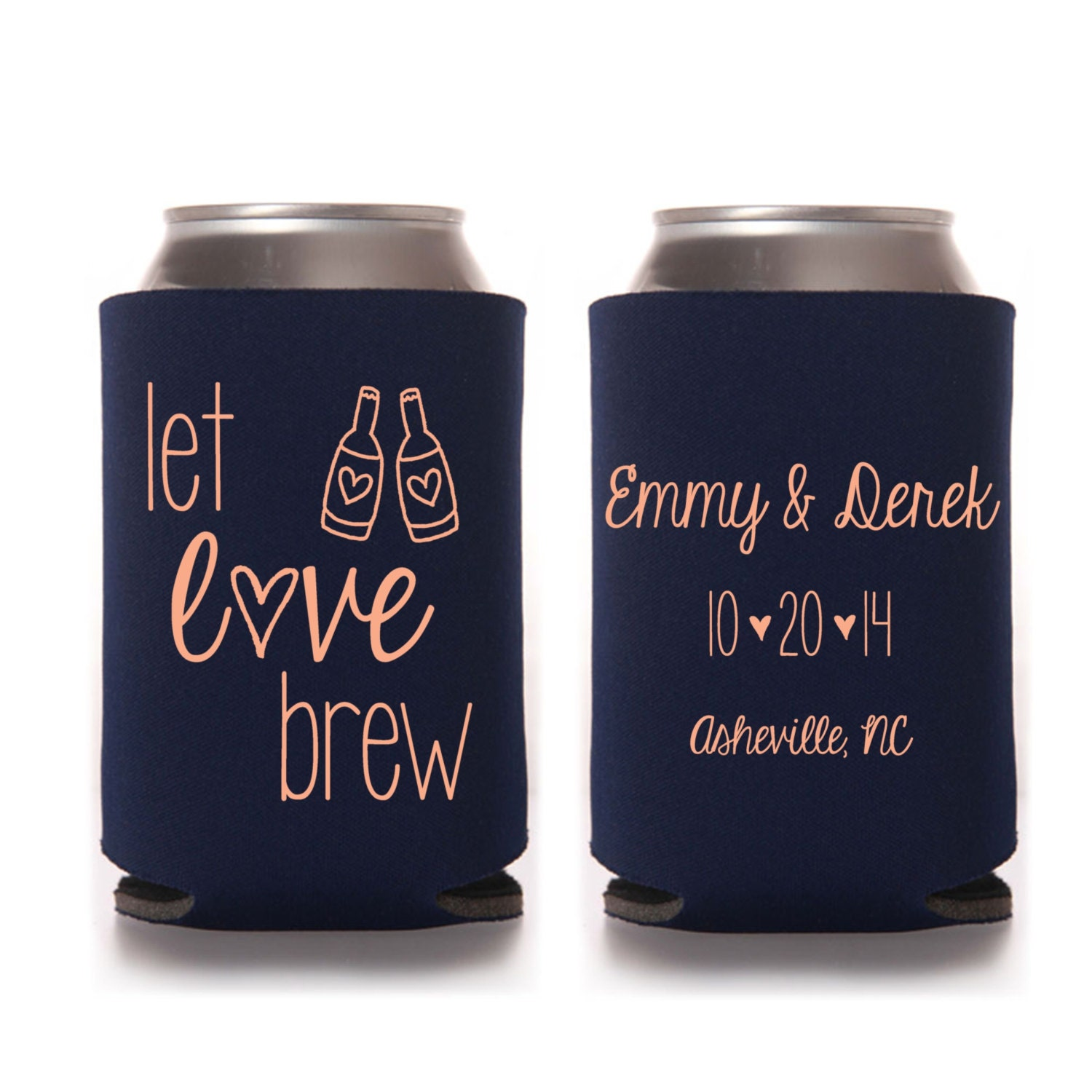 Personalized Beer Koozies Wedding Favors Giftwedding Co