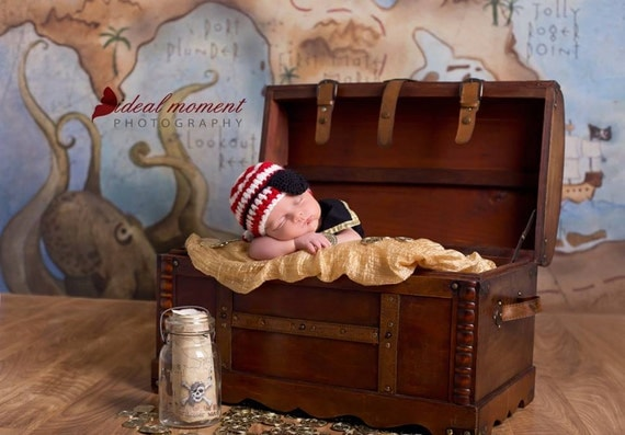 Pirate Hat And Eye Patch Newborn Photo Prop Baby Boy Prop
