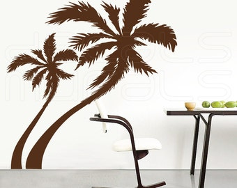 SALE 40% Off ~~~ PALM TREES  Large brown wall decals - Contemporary interior designs by Decals Murals