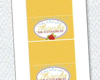 Butterfly Party PRINTABLES Fold Over Labels by Love The Day