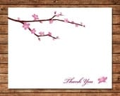 Cherry Blossoms Thank You Cards - Set of 10