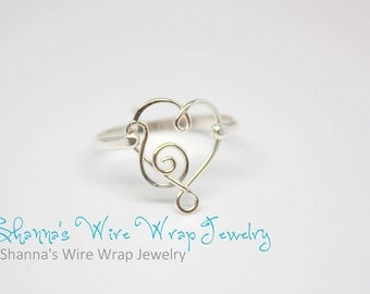 I Have Music in My Heart Ring, Sterling Silver or Yellow Gold Filled