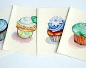 Cute Cupcake Cards Art Note Cards (Ed. 1), Set of 8 Notecards