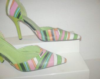 Ladies muti color shoes