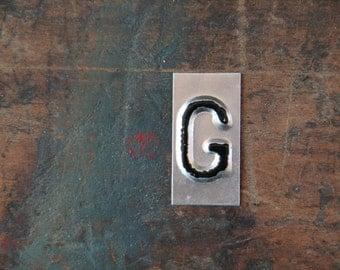 vintage industrial letter  G / metal letters / letter art