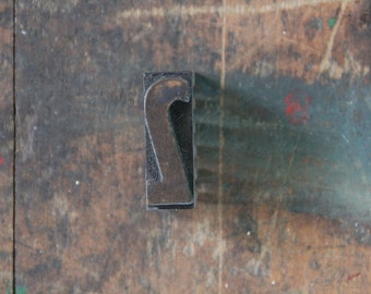 vintage letterpress, wood block stamp, typography, design / number two, 2