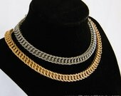Persian Chainmaille Chokers in Steel and Brass