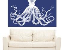 Octo - Pop Art Kraken Octopus Art Print - Ginormous Wall Art Poster - 40x60 - Custom Colors - Extra Large Poster - Huge Wall Art - AP1020