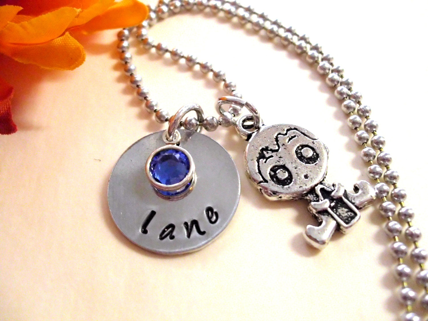 Baby boy jewelry new baby necklace personalized by for Baby jewelry near me