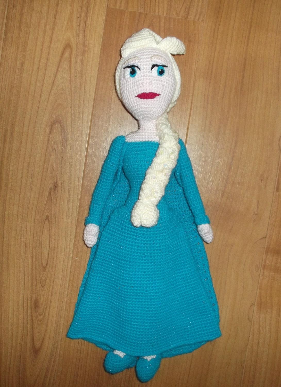 ELSA Frozen Ice princess Doll CROCHET pattern PDF