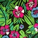 Bold, Colorful Floral Print Cotton Fabric 3 Yards X0345 Pink, Blue, Green