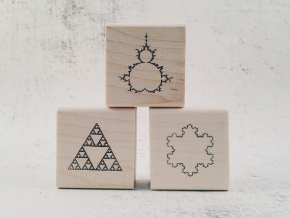 Fractal Geometry and Math Rubber Stamps